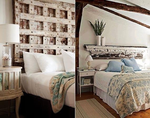 Schlafzimmer Ideen Für Gemütliche Schlafzimmer Einrichtung Mit Diy Bett  Kopfteil Aus Holz