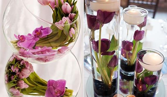 tisch blumendeko hochzeit mit tulpen coole tischdeko ideen mit blumen freshouse. Black Bedroom Furniture Sets. Home Design Ideas