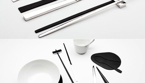 tisch decken mit modernem besteck set trace shadow von kijtanes kajornrattanadech freshouse. Black Bedroom Furniture Sets. Home Design Ideas