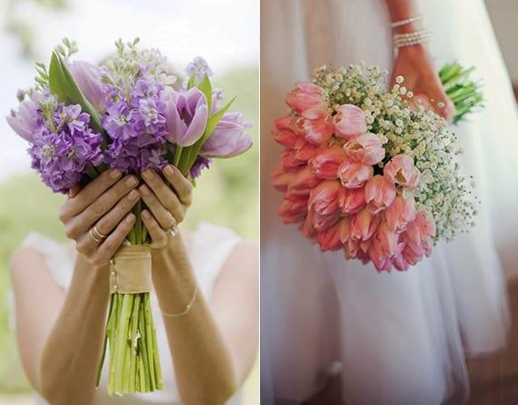 hochzeit ideen für blumenschmuck und romantische blumendeko hochzeit mit tulpen in pastellfarben