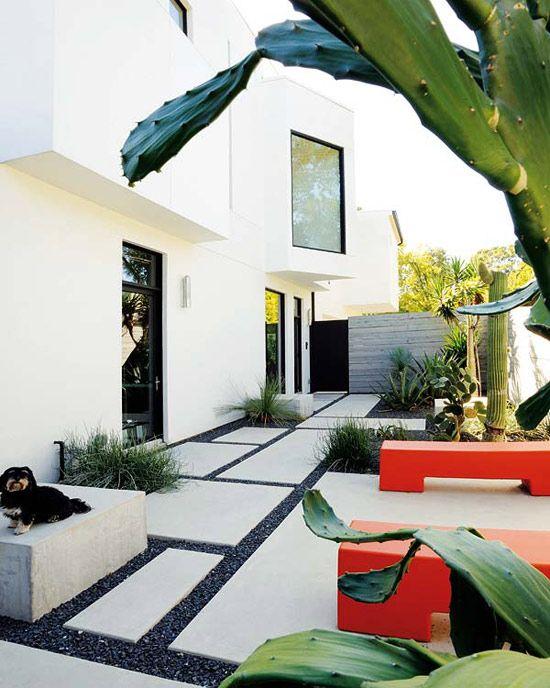 gartengestaltung ideen mit kies und betonplatten für moderne roof top terrassen