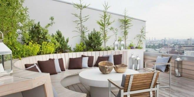 50 coole ideen f r rooftop terrassengestaltung dachterrasse gestalten mit holz und einrichten. Black Bedroom Furniture Sets. Home Design Ideas