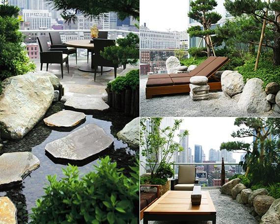 feng shui garten anlegen auf roof top terrasse