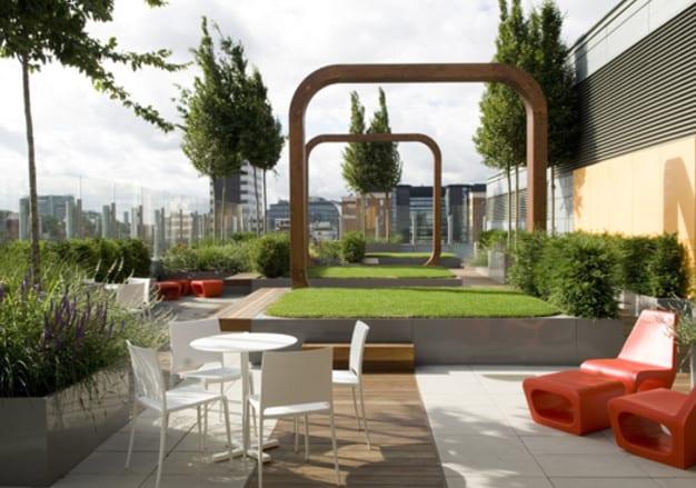 dachterrasse planen und gestalten_ modernes roof top design ideen und bilder