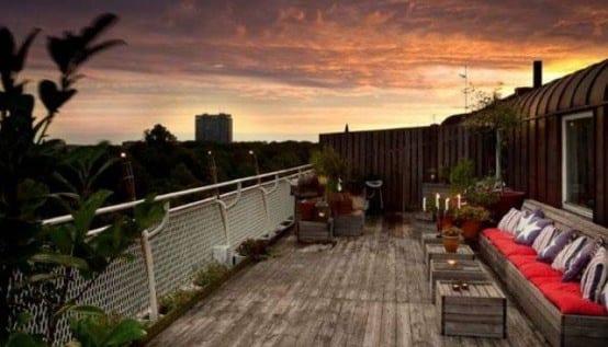 50 coole ideen für rooftop terrassengestaltung mit palettenmäbeln