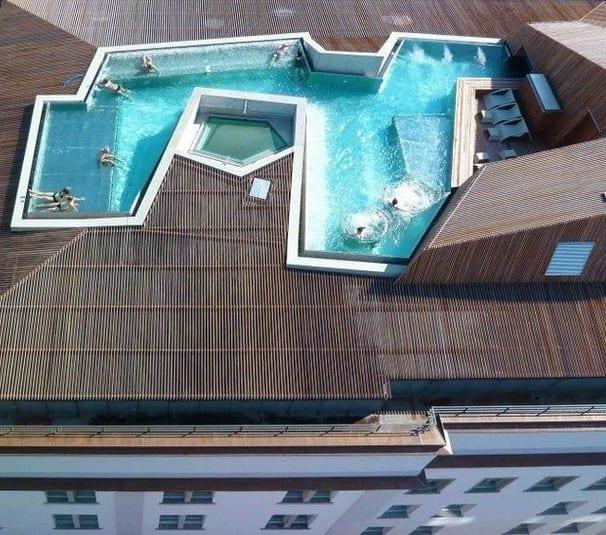 eingebauter pool auf terrasse bilder