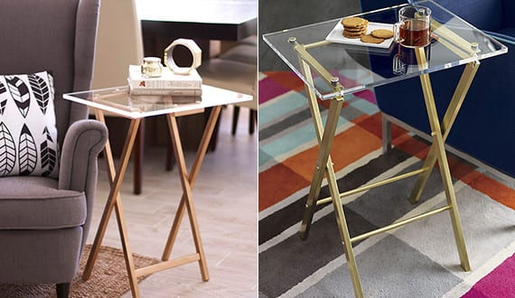 beistelltisch selber bauen aus plexyglas als idee f r. Black Bedroom Furniture Sets. Home Design Ideas