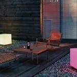 laterne basteln für terrasse und garten_garten modern einrichten mit laternen oder leuchtendem beistelltisch aus acrylglas