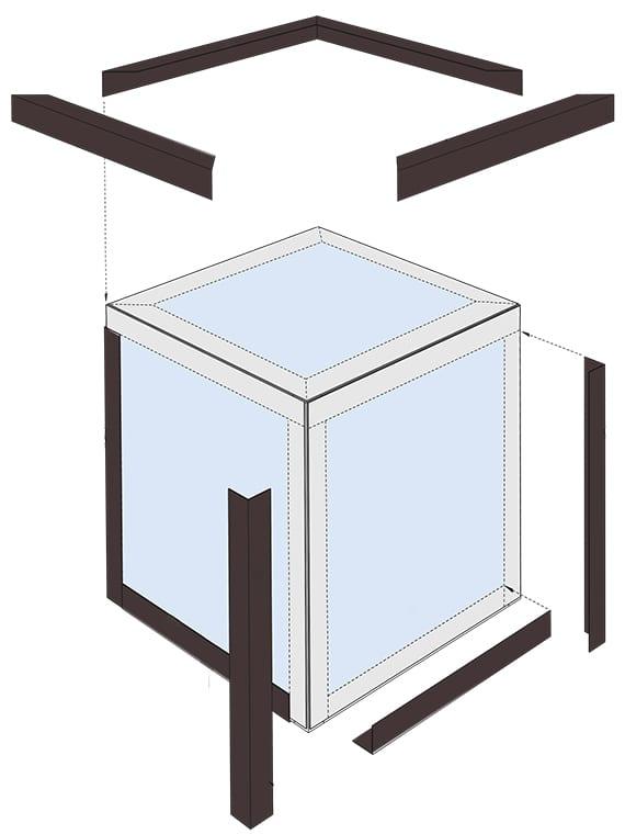 anleitung für garten-Laterne basteln aus acrylglas und alu-winkelprofilen