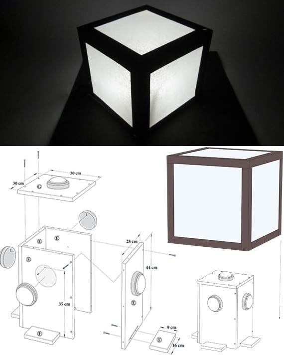 darten und terrasse gestalten mit selbstgemachten laternen für gartenbeleuchtung