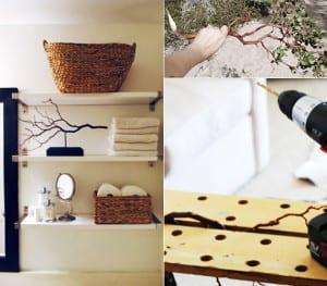 do it yourself deko in schwarz wei und holz basteln mit. Black Bedroom Furniture Sets. Home Design Ideas