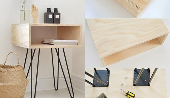 do it yourself deko in schwarz wei und holz dekoideen schlafzimmer mit diy nachttisch holz. Black Bedroom Furniture Sets. Home Design Ideas