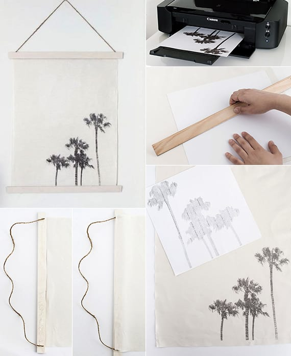 diy wandhängedeko mit fotodruck als kreative geschenkidee zum selber basteln