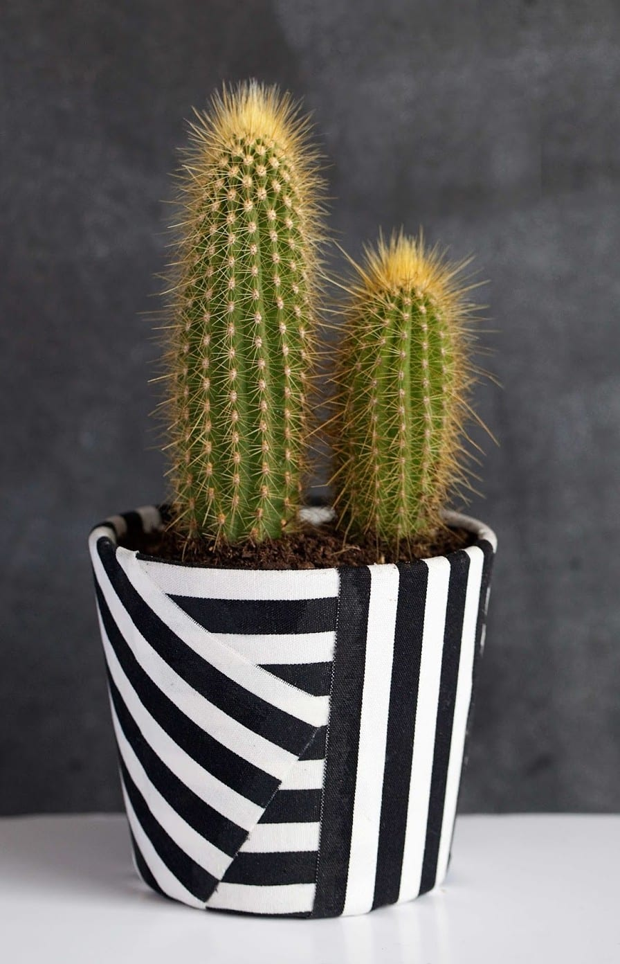 kreative dekoideen in schwarz weiß mit textil