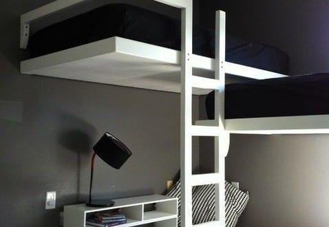 Kleine wohnung einrichten mit hochhbett zimmer einrichten for Wohnung minimalistisch einrichten