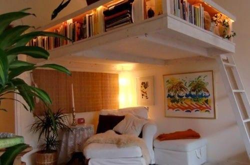 kleine wohnung einrichten mit hochbett ber sitzecke freshouse. Black Bedroom Furniture Sets. Home Design Ideas
