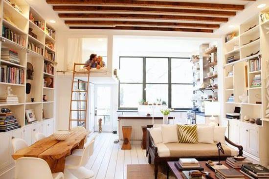 super idee für einrichtung 1 raum wohnung mit hochbett über eingangsbereich