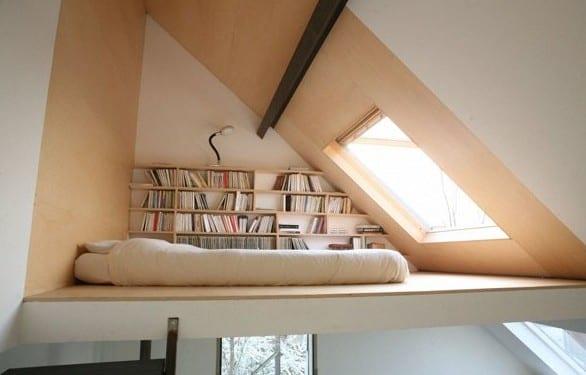 kleine zimmer einrichten mit hochhbett für erwachsene als loft schlafbereich