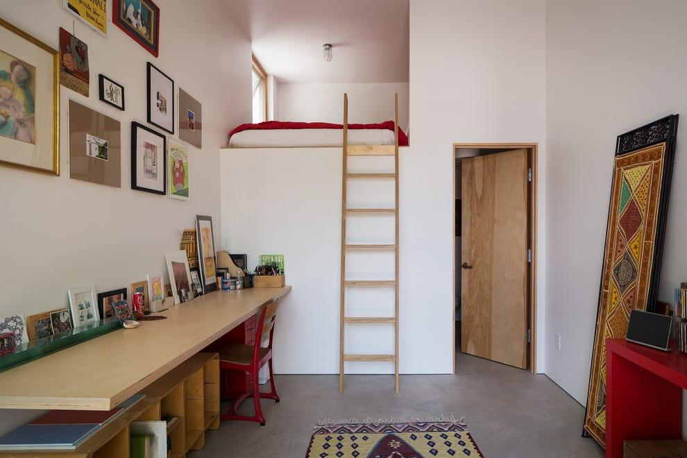 jugendschlafzimmer beispiele mit hochbett und schreibtisch holz