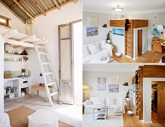Fabulous Die kleine Wohnung einrichten mit Hochhbett - fresHouse SK12