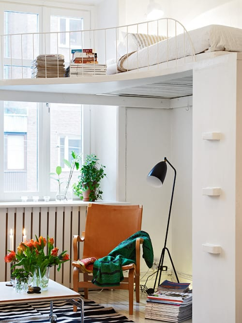 kleine schlafzimmer und wohnungen einrichten mit hochbett