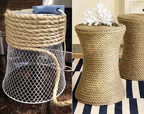 bastelideen für diy beistelltische als inspiration zum terrasse gestalten mit stil