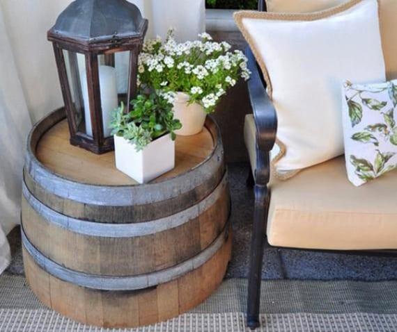 fass für kreatives terrasse gestalten