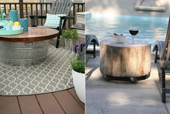 basteln sie selber einen beistelltisch für die terrasse_terrassengestaltung mit diy rundtisch