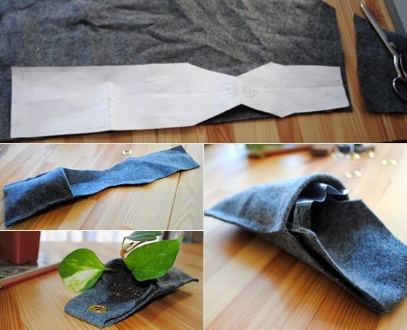 pflanzenkübel für wand basteln aus filz