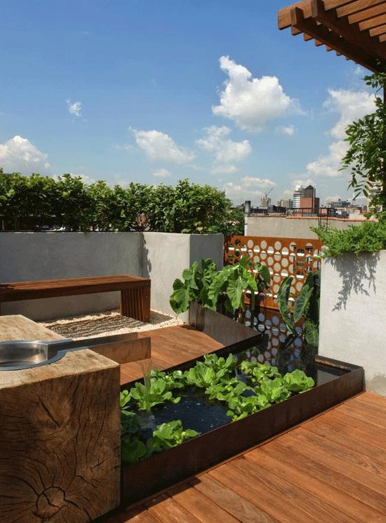 terrasse gestalten und garten anlegen auf dachterrasse