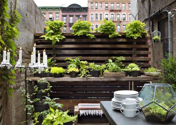 toole inspiration für urban garden design_gestalten sie kleinen garten in der stadt