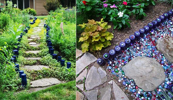 Garten gestalten mit kreativer rasenkante und - Aussenwand gestalten ...