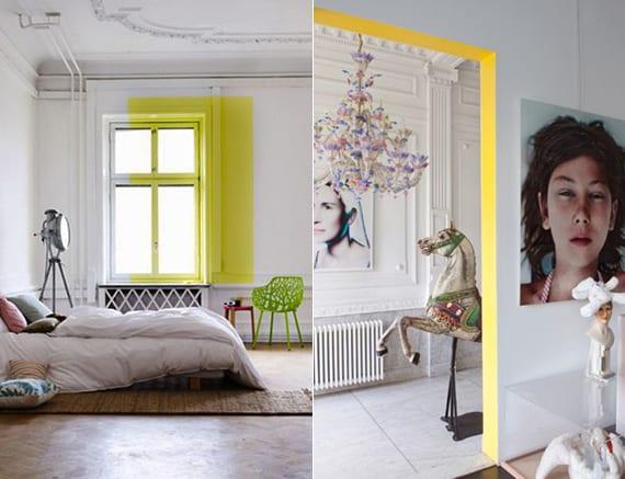 kreatives raum design und originelle wand streichidee für schlafzimmer und koridor