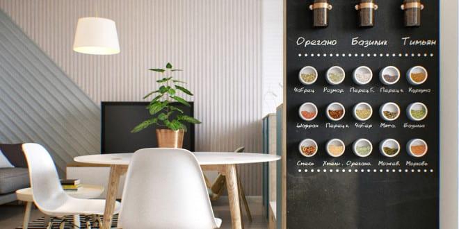 In der Wohnung dient die weiße Akzent Wand als Leinwand für den Projektor