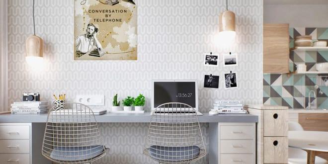 kleine wohnung modern und funktionell einrichten homeoffice und schlafbereich in einraumwohnung. Black Bedroom Furniture Sets. Home Design Ideas