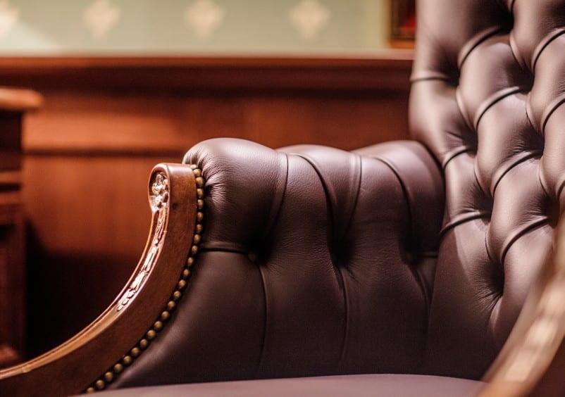 echt leder armsessel im klassischen stil für moderne wohnzimmer