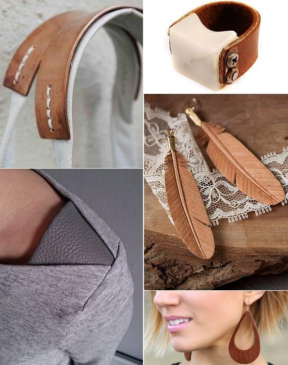 DIY Geschenke und Accessoires für Frauen aus Leder