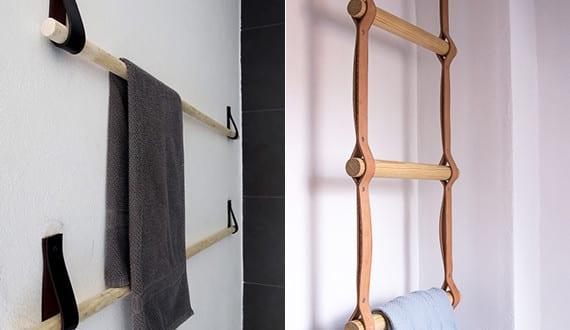 leder was man alles daraus machen kann diy h ngetuchhalter freshouse. Black Bedroom Furniture Sets. Home Design Ideas