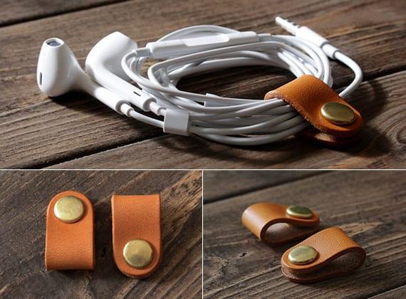 kreative Bastel- und Geschenkidee für Kopfhörer Halterung aus Leder
