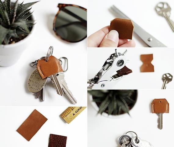 coole Ideen zum basteln mit leder von DIY Schlüsselabdeckung