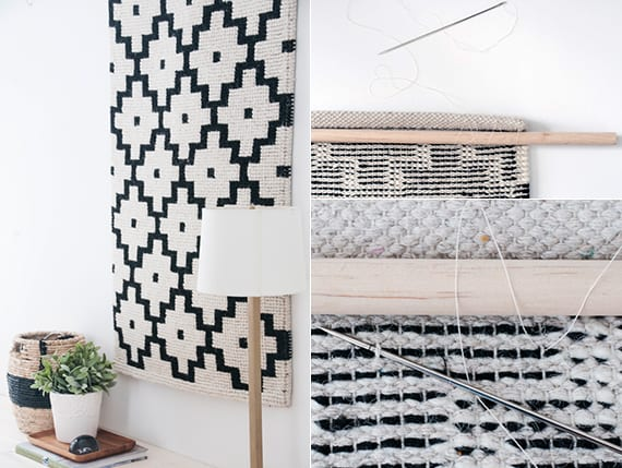 interessante Dekoideen für schlafzimmer mit selbstgemachte Wanddeko in schwarzweiß