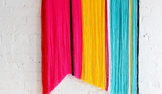 wandbehang deko selber machen f r frische wandgestaltung in strahlenden farben freshouse. Black Bedroom Furniture Sets. Home Design Ideas