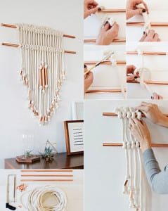 wandbehang deko selber machen mir kupferr hren originelle wandgestaltung ideen freshouse. Black Bedroom Furniture Sets. Home Design Ideas