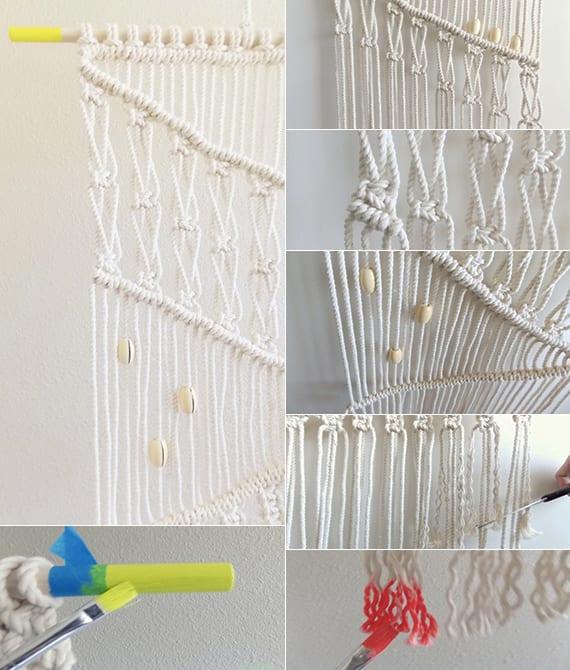 makramee deko selber machen als inspiration für kreative Wanddekoration mit diy wandbehang