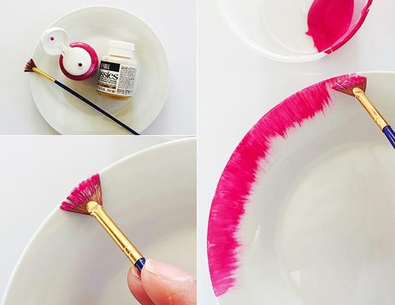 modernes geschirr selber basteln und bemalen als kreatives DIY geschenk zu muttertag