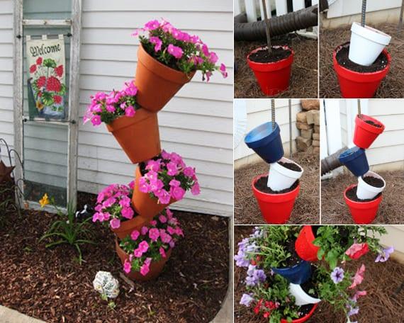 sommer bastelideen fr garten mit blumentpfe - Idee Fur Gartengestaltung