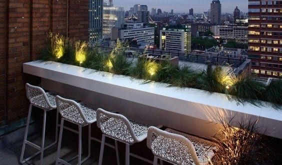 Der Balkon Mit Bar Theke Unser Kleines Wohnzimmer Im Sommer