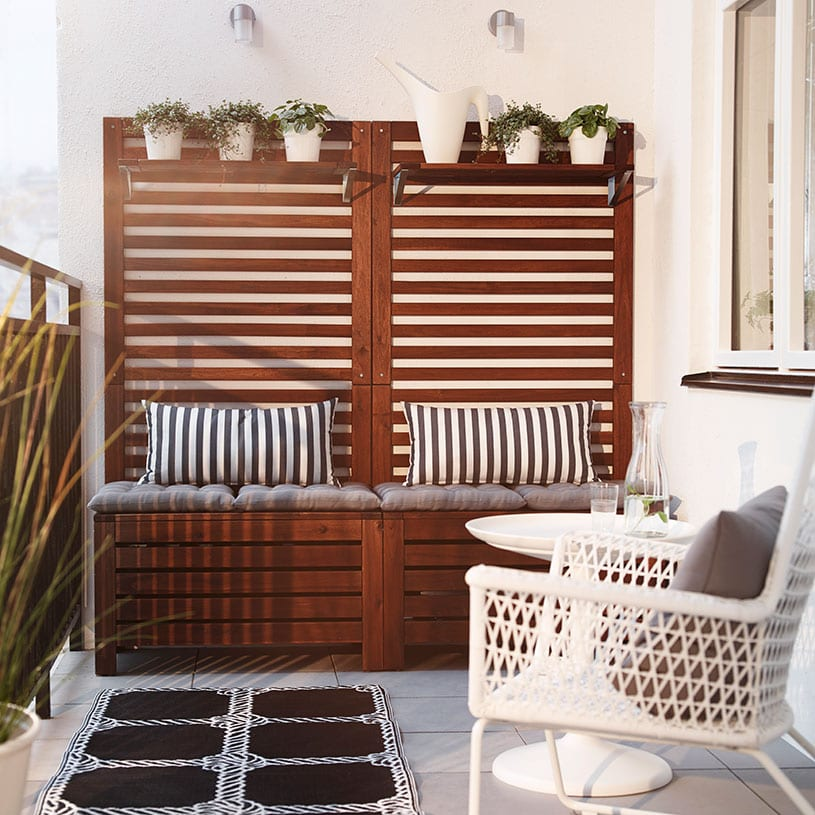 der balkon unser kleines wohnzimmer im sommer freshouse. Black Bedroom Furniture Sets. Home Design Ideas