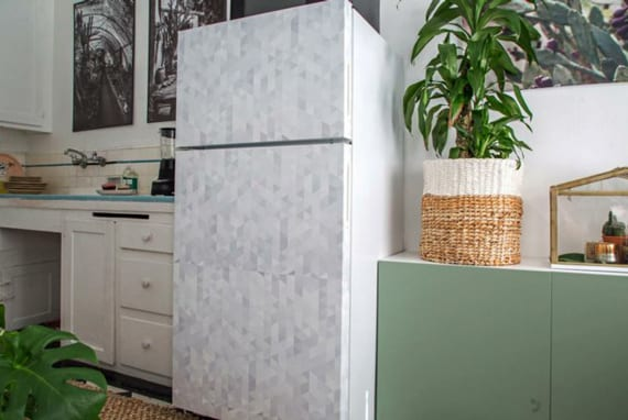 küche renovieren und alter kühlschrank neu gestalten_tolle bastelideen für diy retro kühlschrank