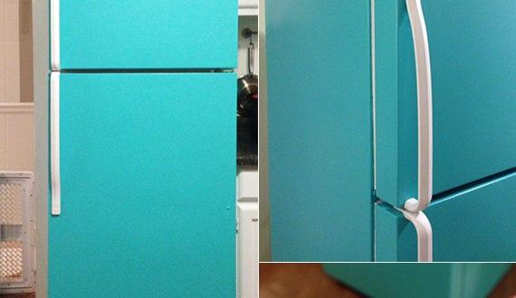 die k che mit diy retro k hlschrank in blau ausstatten freshouse. Black Bedroom Furniture Sets. Home Design Ideas